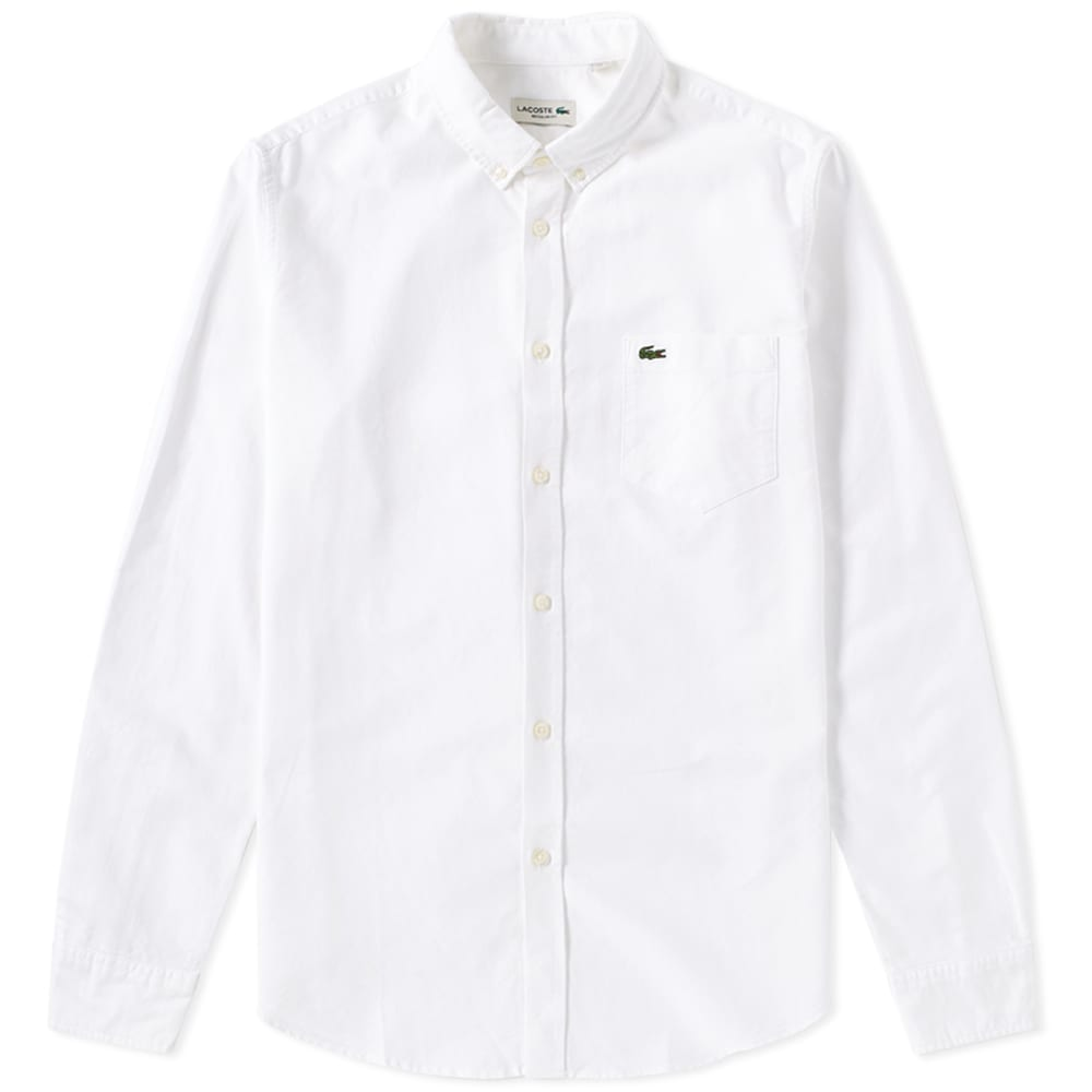 1be86b377 Lacoste Button Down Oxford Shirt White