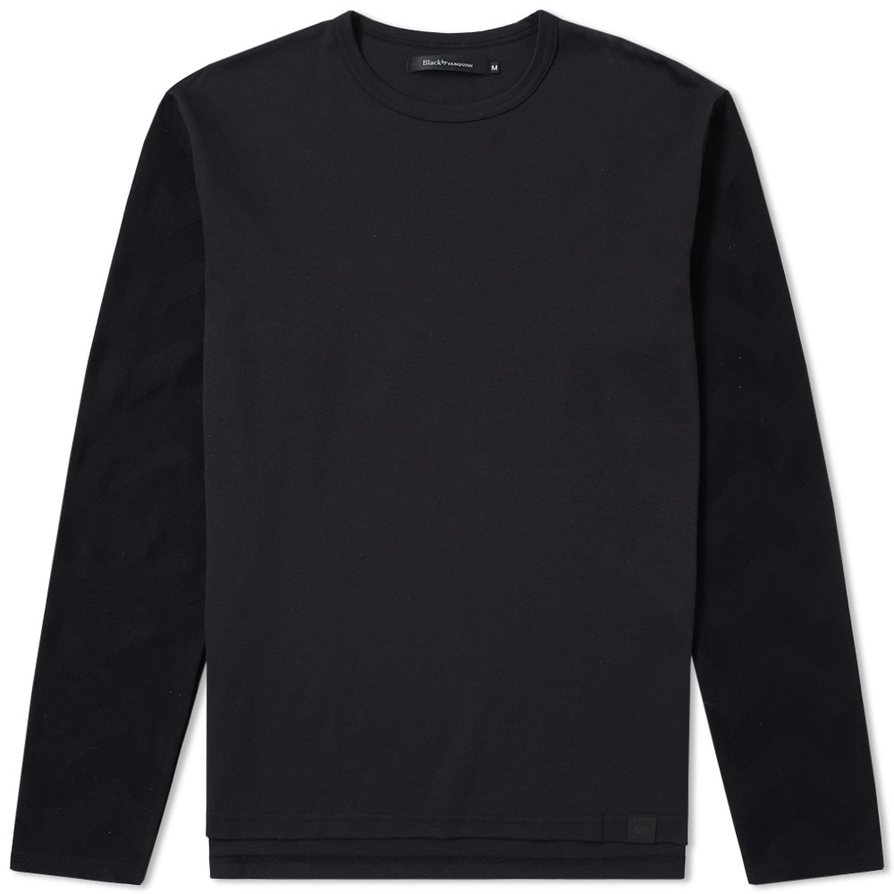 BLACK BY VANQUISH LONG SLEEVE TEE