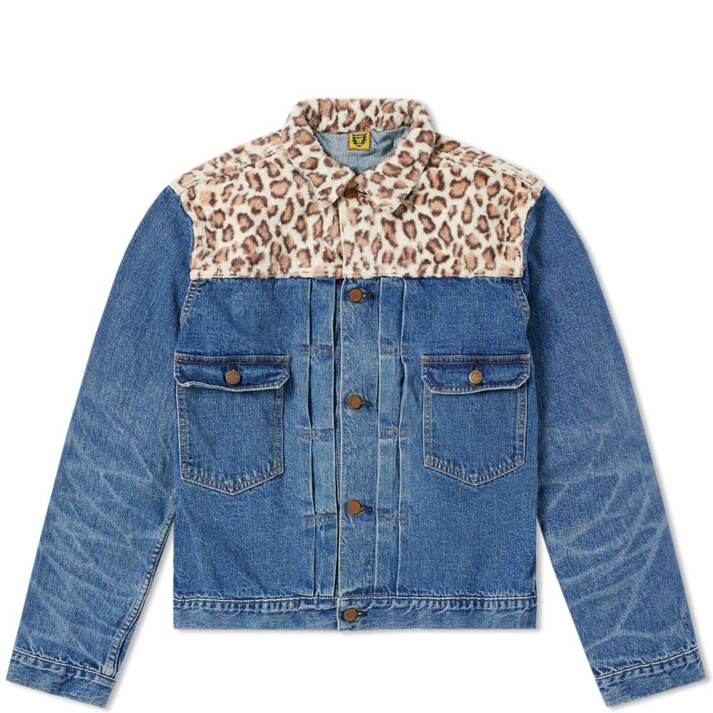 HUMAN MADE Human Made X Studio Seven Denim Teddy Jacket in Blue