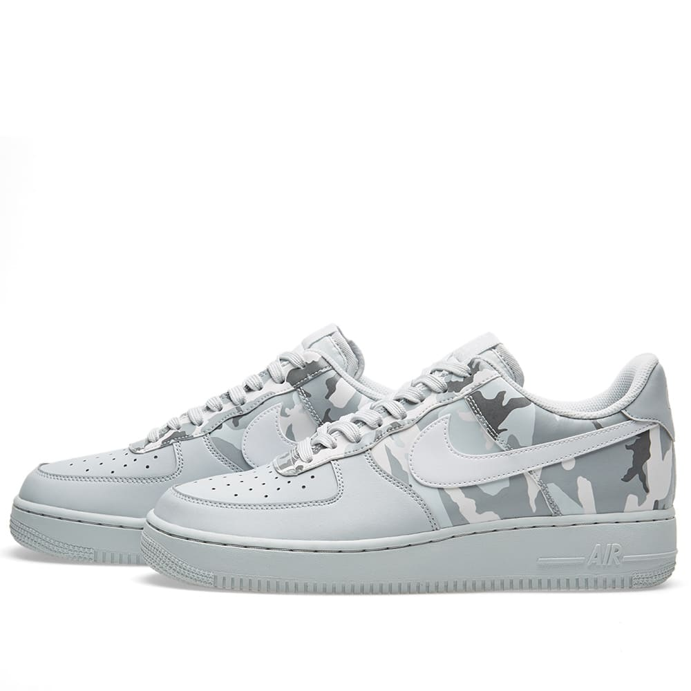 lowest price 46a23 a7d4c Nike Air Force 1  07 LV8 Half Camo Pure Platinum, White   Grey   END.