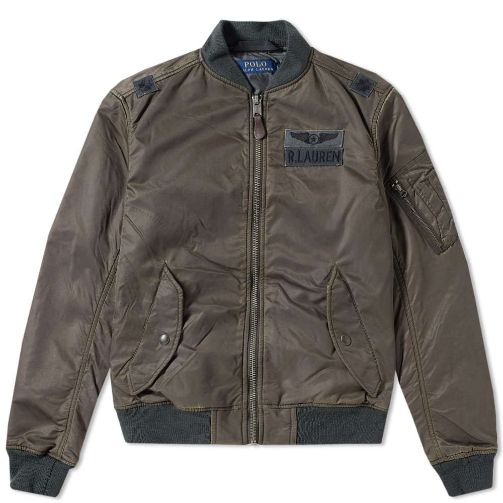 Polo Ralph Lauren Ma1 Bomber Jacket in Green