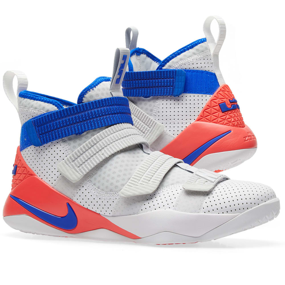 buy popular 831ce 9f876 Nike LeBron Soldier XI SFG. White, Racer Blue   Infrared