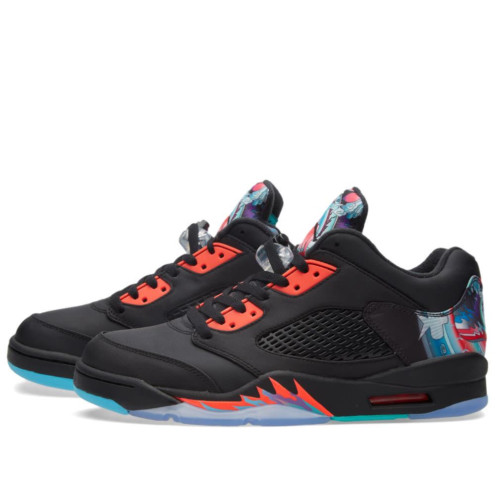 78b87cfc4fa520 Nike Air Jordan 5 Retro Low  Chinese New Year  Black   Bright Crimson