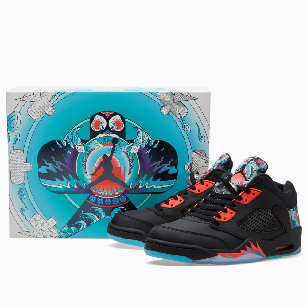 e043d9b09b0bb9 Nike Air Jordan 5 Retro Low  Chinese New Year  Black   Bright ...