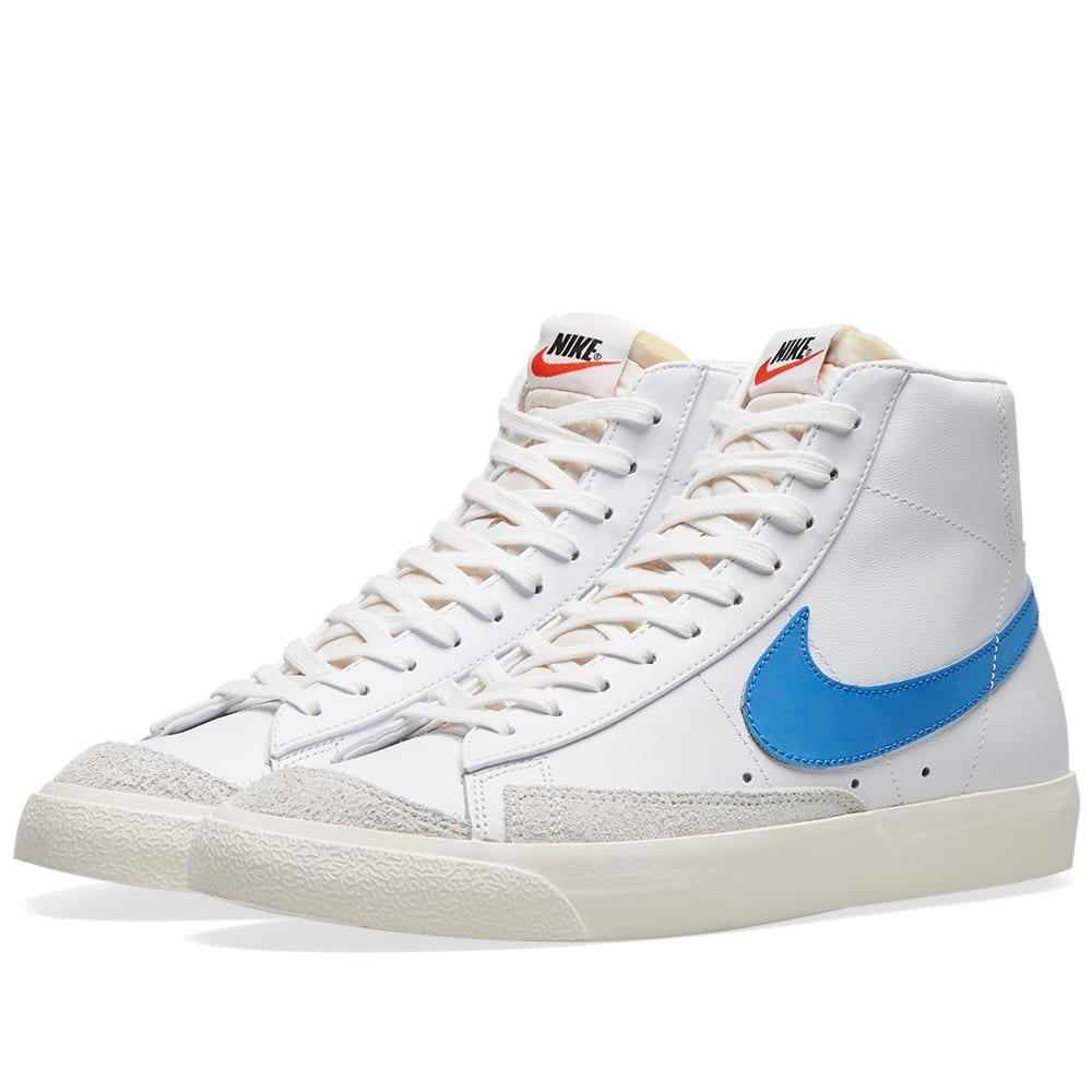 lowest price d1f13 d9fe6 Nike Blazer Mid  77 Vintage Pacific Blue, Sail   White   END.