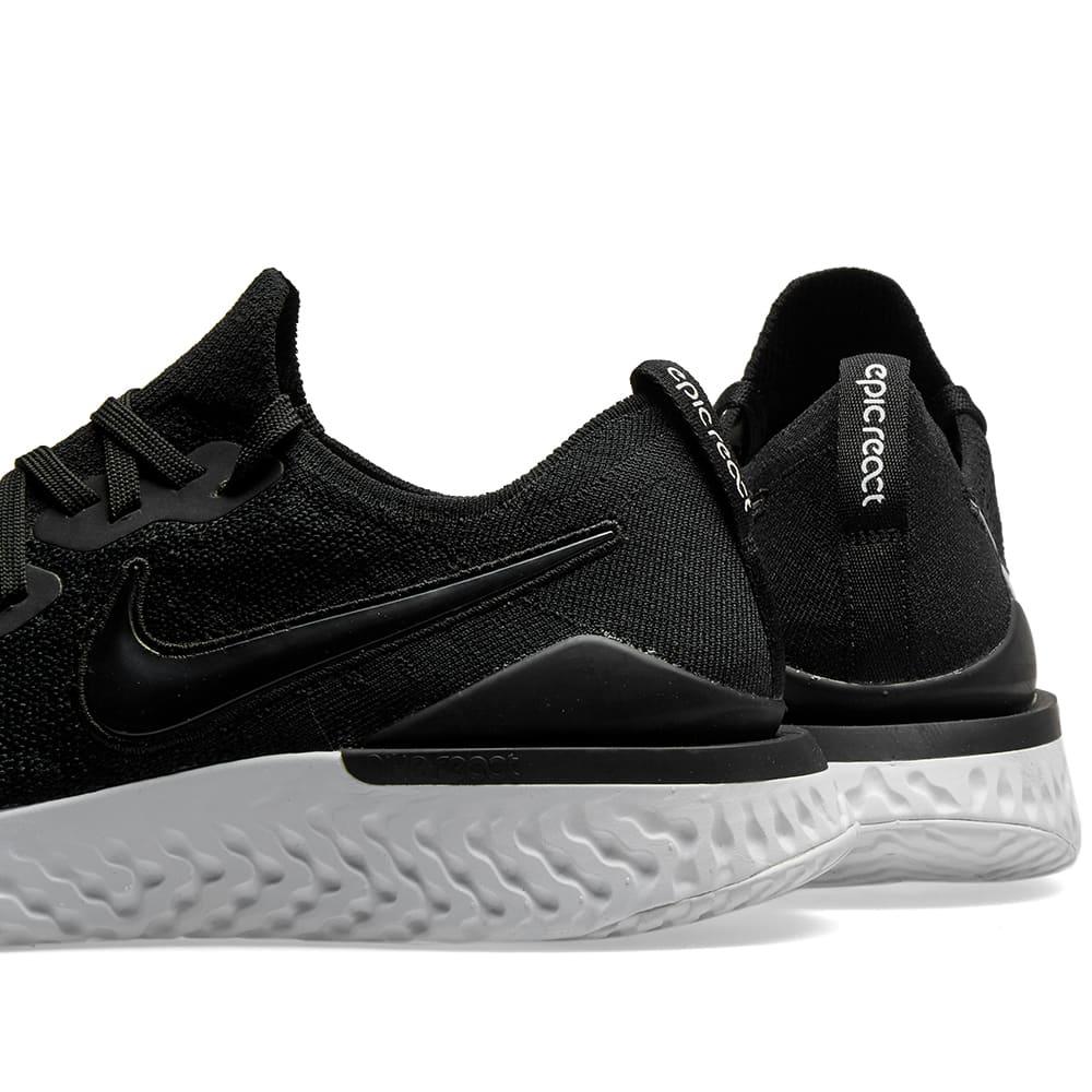 e8e0ac8bca070 Nike Epic React Flyknit 2 W Black   Gunsmoke
