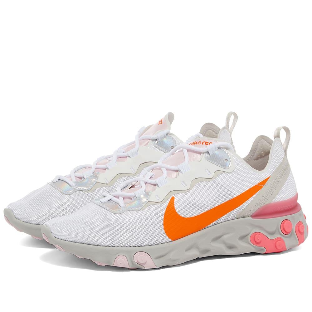 Nike React Element 55 W White, Crimson
