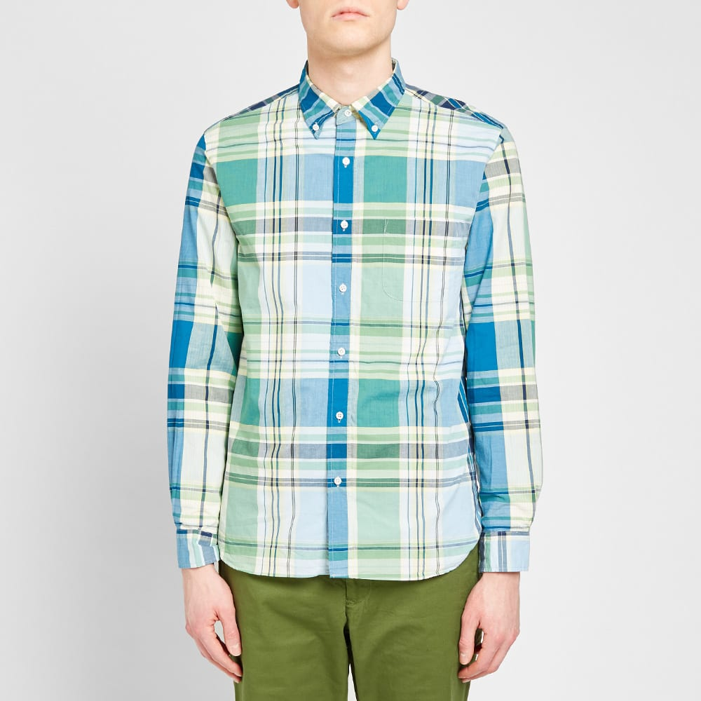 Beams Plus Button Down Big Check Shirt