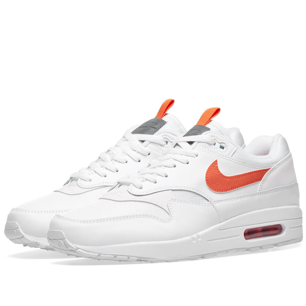 sale retailer 1af61 7e43b Nike Air Max 1 SE White   Team Orange   END.