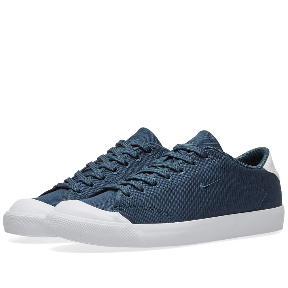 low priced af0cc 6987d Nike All Court 2 Low Canvas Armory Navy   White   END.
