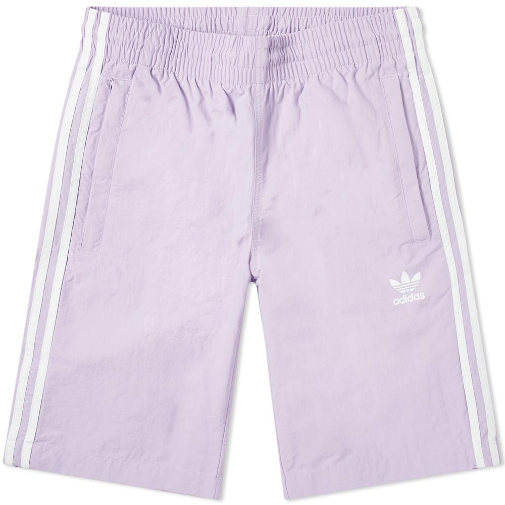 7feb8d90c2f2 Adidas 3 Stripe Swim Short Purple Glow | END.