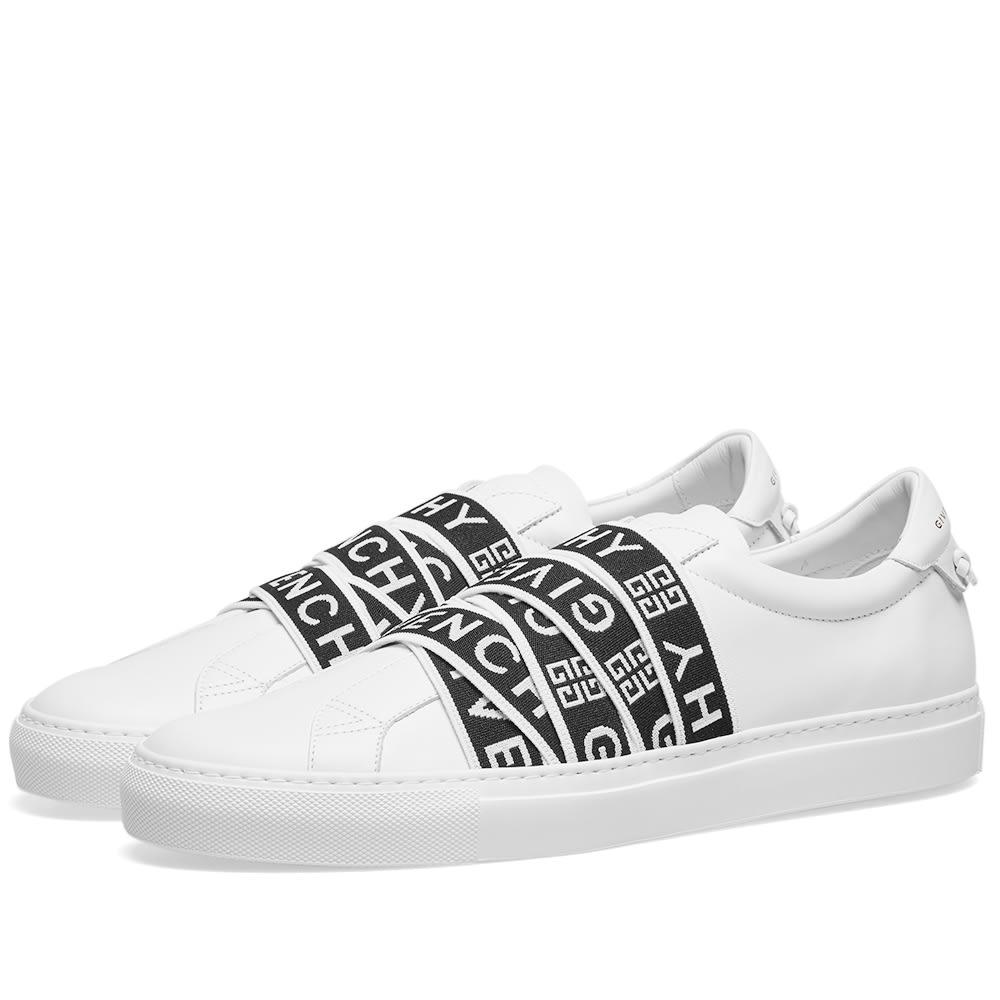 2818bd9712c Givenchy Urban Street Low Webbing Sneaker White   Black