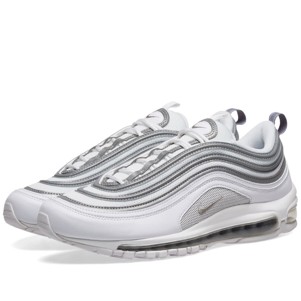 save off 552fd e9dc0 Nike Air Max 97 White, Silver   Wolf Grey   END.