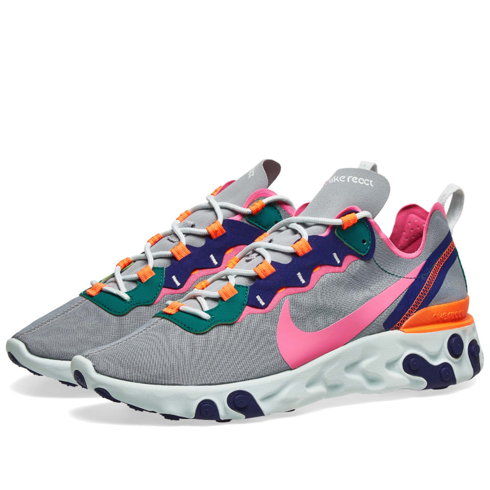 check out 11a12 18e73 Nike React Element 55 W Wolf Grey, Fuchsia   Crimson   END.