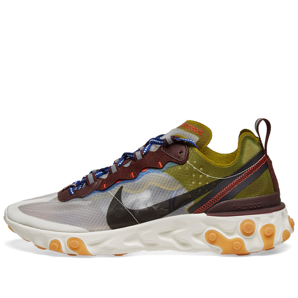 Nike React Element 87 Moss, Black, Blue