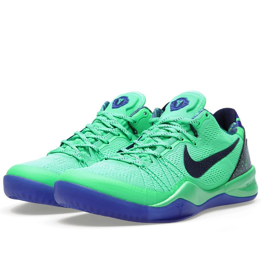 low priced d7cb0 5ef5e Nike Kobe 8 System Elite  Superhero  Poison Green   Blackened Blue   END.
