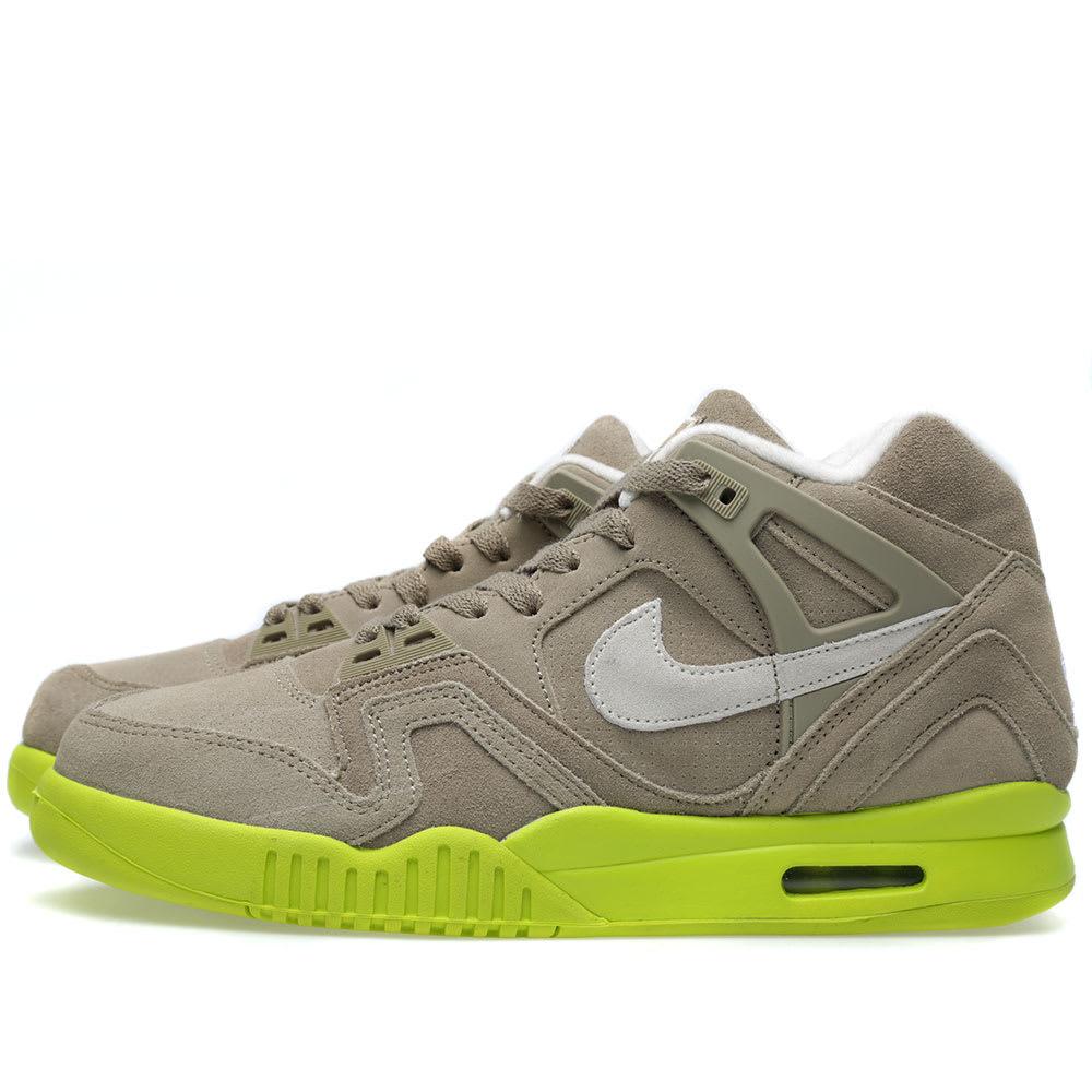 233559250fe5 Nike Air Tech Challenge II  Suede  Bamboo   Venom Green