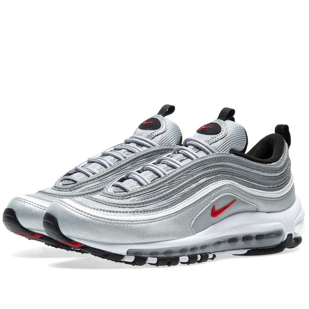 a23660e7 Nike Air Max 97 OG QS Metallic Silver & Varsity Red | END.