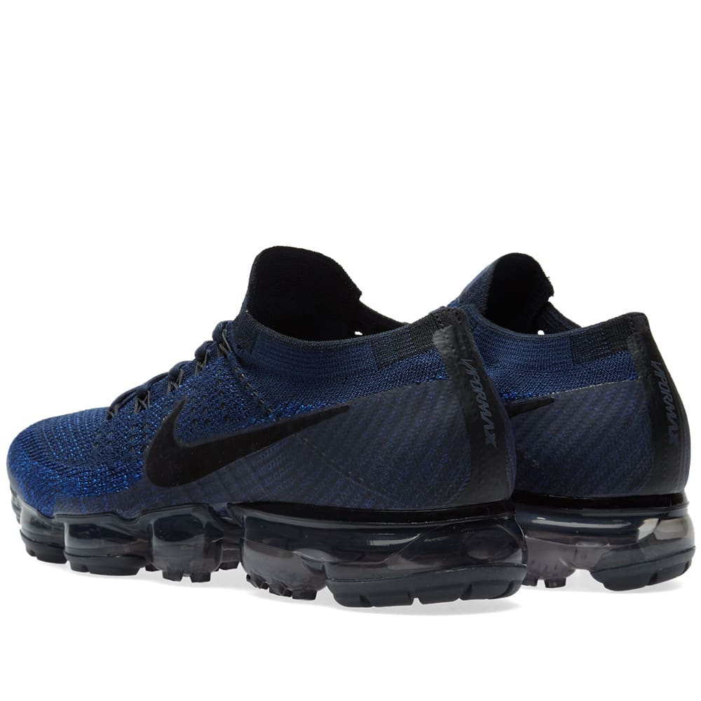 the latest 971bd ac952 Nike Air Vapormax Flyknit Colligate Navy   Black   END.