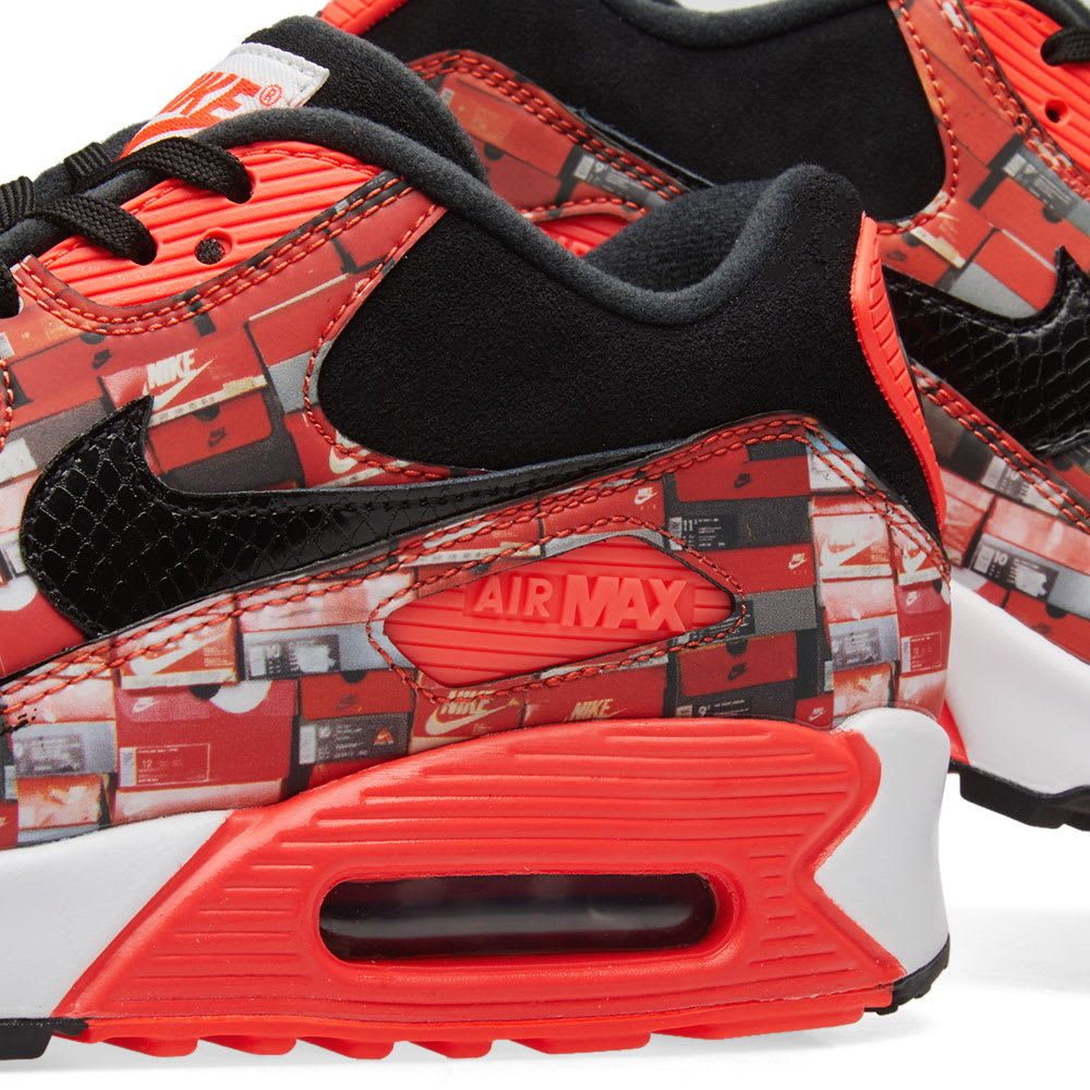 quality design f7b2c d4888 Nike Air Max 90 Print Black, Crimson   White   END.