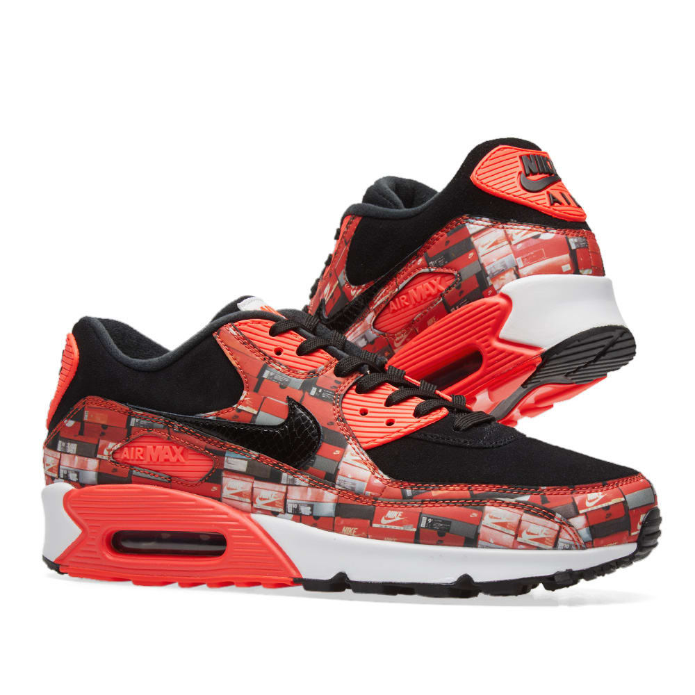sale retailer 73d30 fdf78 Nike Air Max 90 Print. Black, Crimson   White