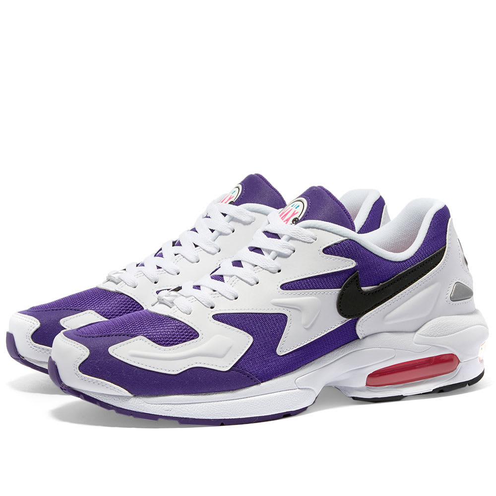 tornado Geografía lanza  Nike Air Max 2 Light White, Black, Purple & Pink | END.