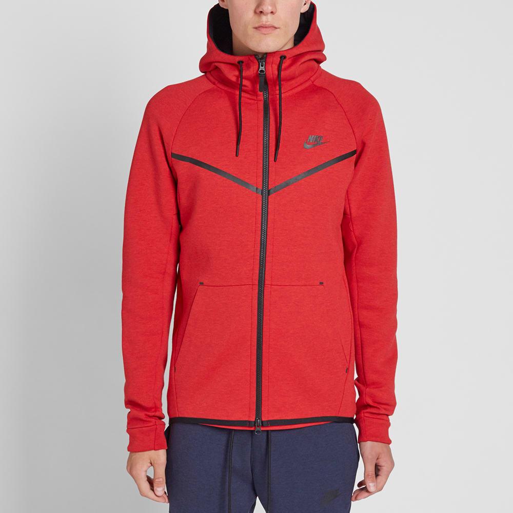 Nike Tech Fleece Windrunner University Red Black End