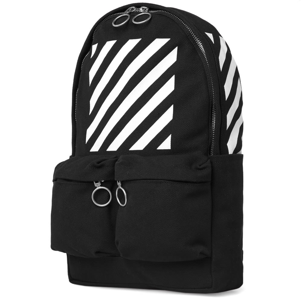 off white diagonals backpack black white. Black Bedroom Furniture Sets. Home Design Ideas