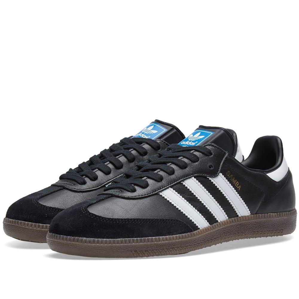 Adidas Originals Samba Shoes White Black Gum