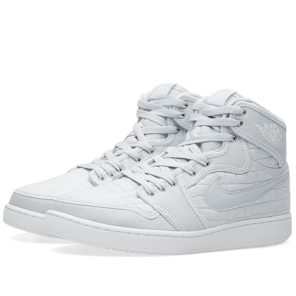 e1af4de3e7ccaa Nike Air Jordan 1 KO High OG Pure Platinum   White