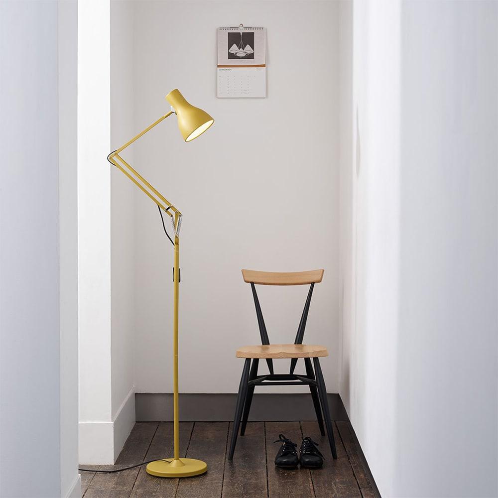 Floor Standing Anglepoise: Anglepoise Type 75 Floor Lamp 'Margaret Howell' Yellow