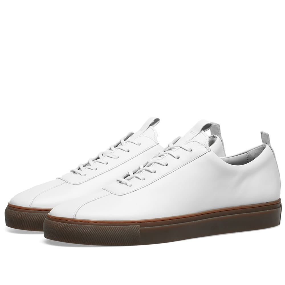 Grenson Sneaker 1 White Calf \u0026 Gum Sole