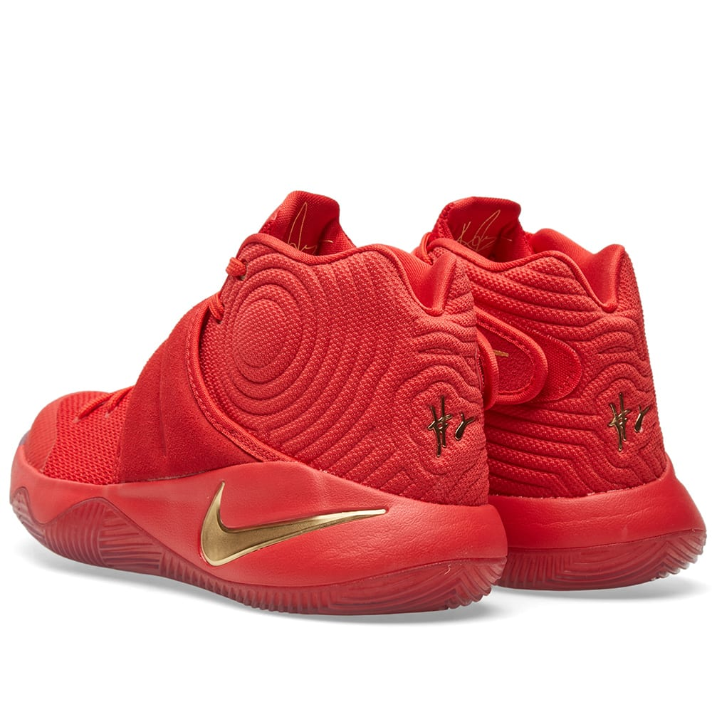 lowest price 5ca92 74c62 Nike Kyrie 2 Limited University Red   Metallic Gold   END.