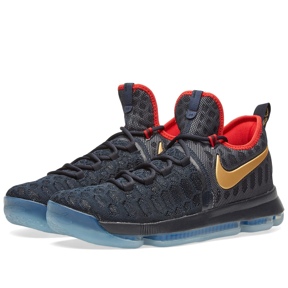 finest selection cf4ca a3f98 Nike Zoom KD 9 Limited Dark Obsidian   Metallic Gold   END.