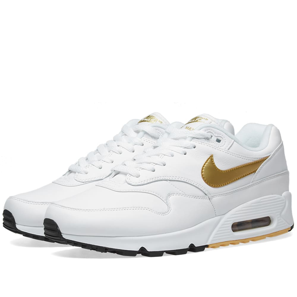official photos 25978 afaa4 Nike Air Max 90 1 White, Gold   Black   END.