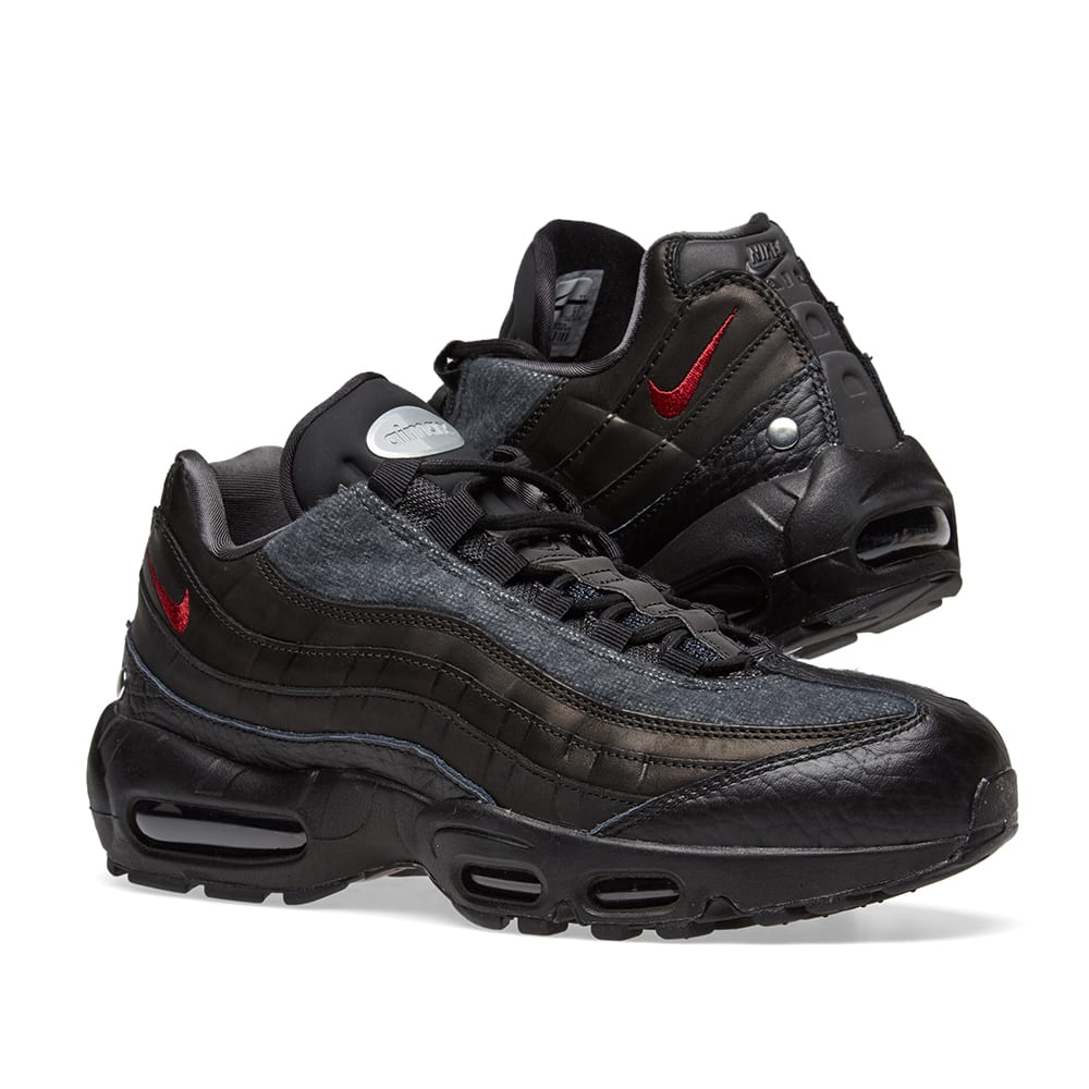 46a795812c3fc Nike Air Max 95 NRG Black, Red & Anthracite | END.