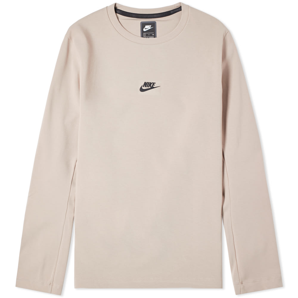Nike Cottons NIKE LONG SLEEVE TECH PACK CREW TEE
