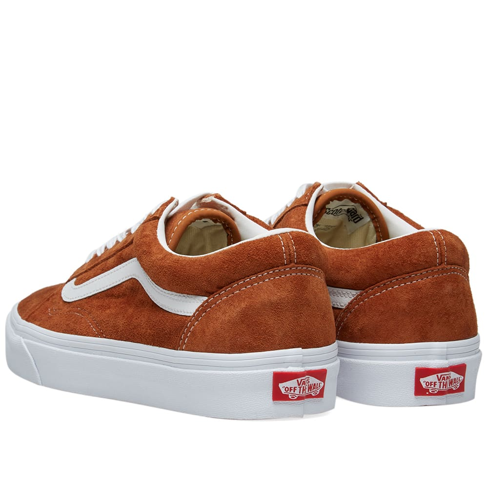 a47f7a8663 Vans Old Skool Pig Suede Leather Brown   True White