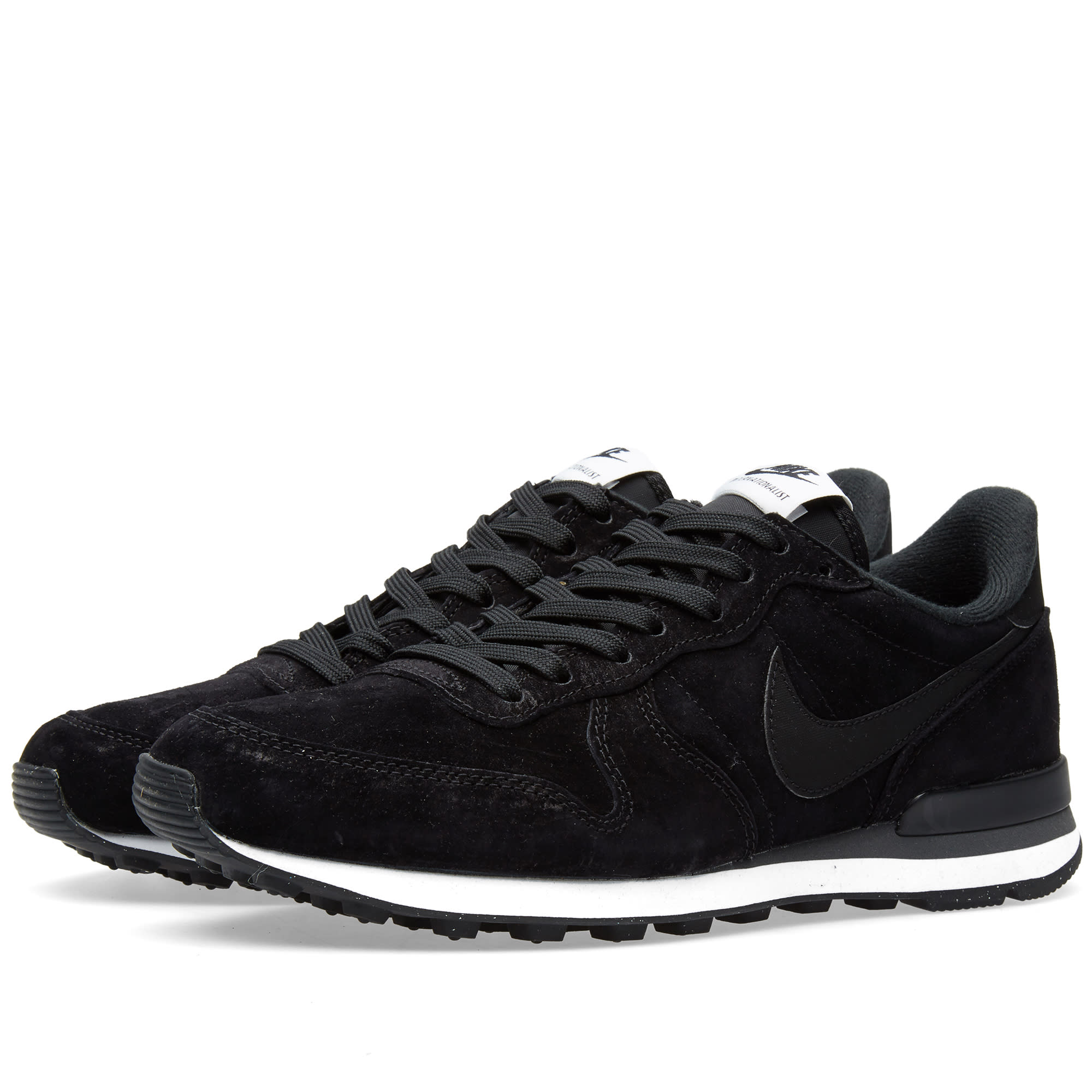 the latest 93374 5ac4f Nike Internationalist Leather Black, Dark Grey   White   END.
