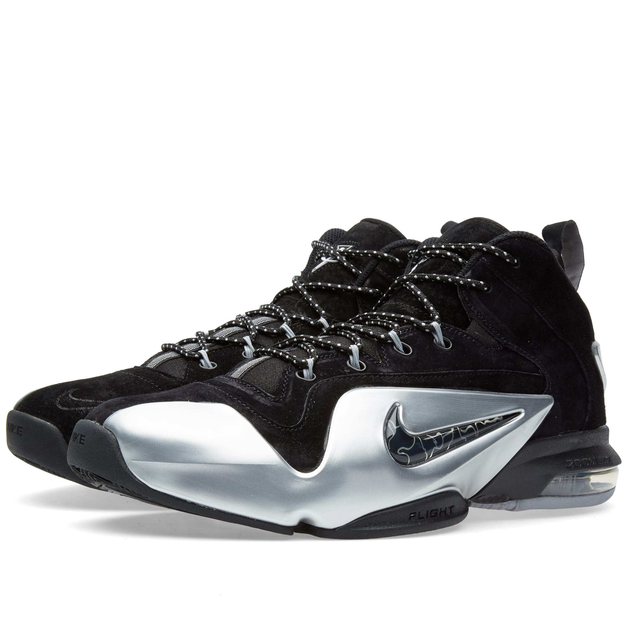 55cb80f85fa03 Nike Zoom Penny VI Black   Metallic Silver