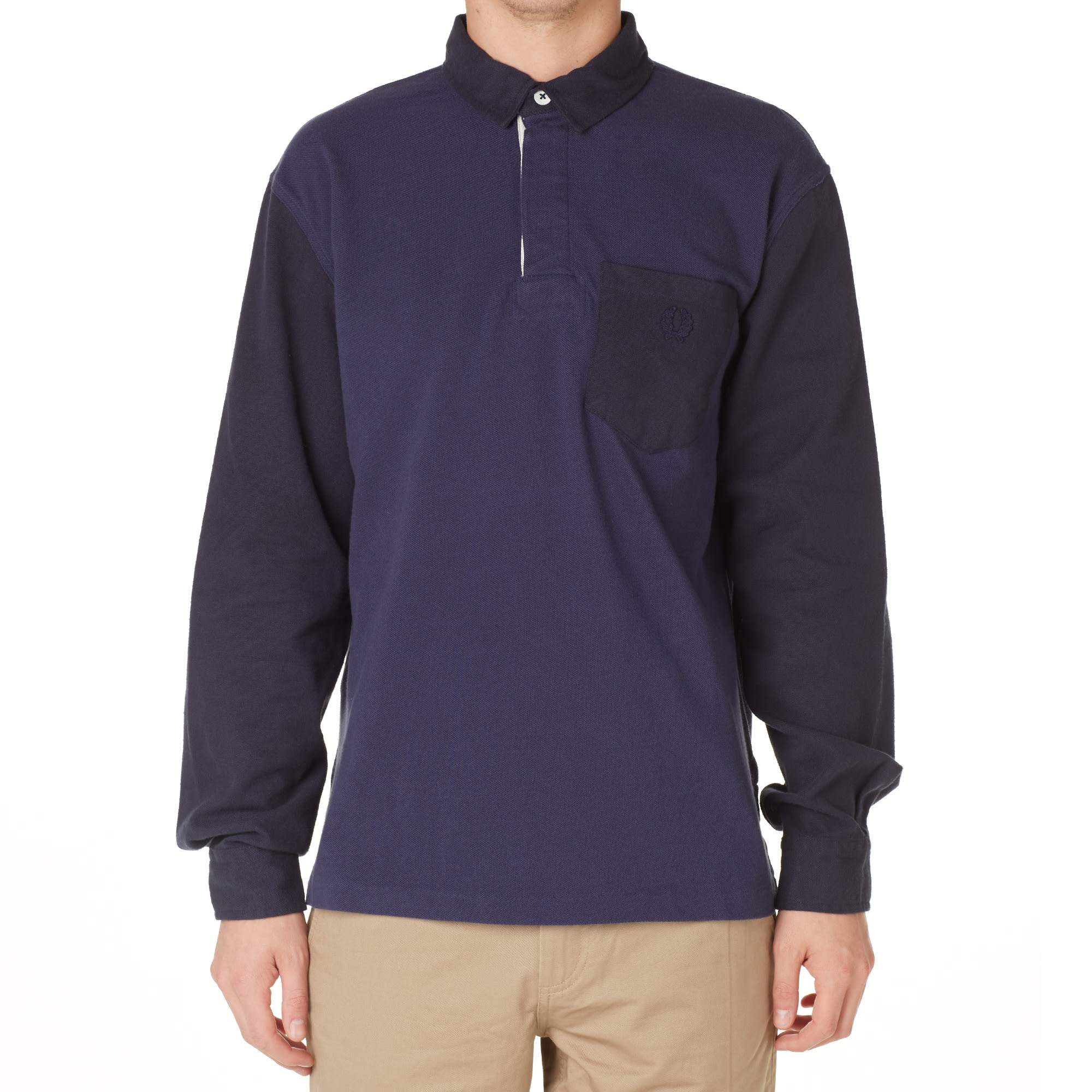 447981e53641 Fred Perry x Nigel Cabourn Football Pique Polo French Navy