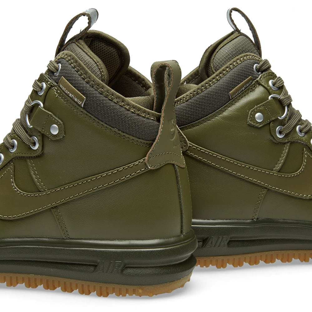 new product 6e0de 8b474 Nike Lunar Force 1 Duckboot Mid Olive   Light Brown   END.