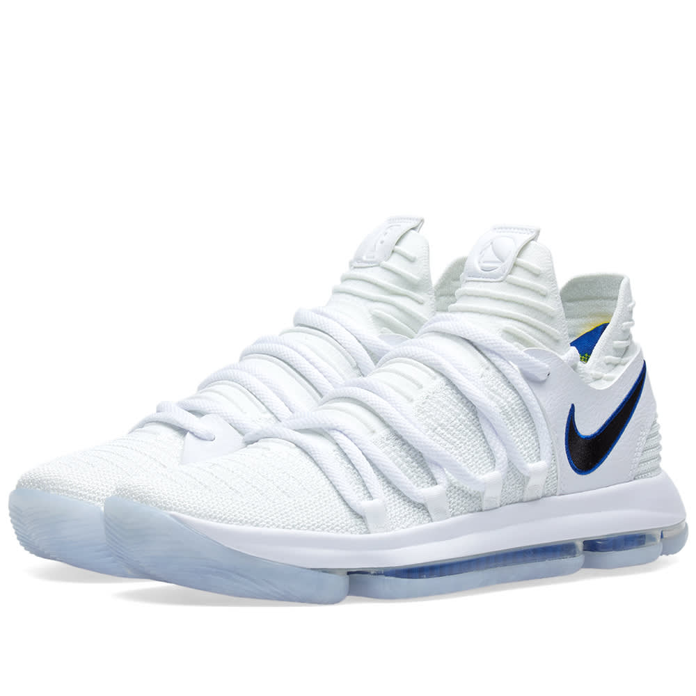 new style 8b087 d4d34 Nike KDX Opening Night White, Game Royal   Gold   END.