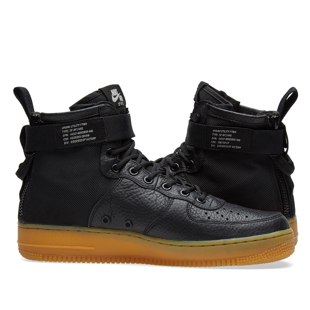 outlet store 8d7e0 a2f91 Nike SF Air Force 1 Mid W. Black, Gum   Light Brown