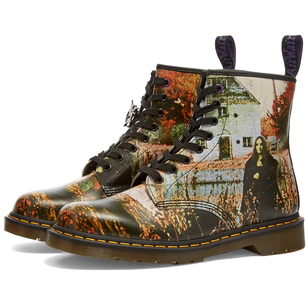 Dr. Martens 1460 Black Sabbath Boot White & Black Greasy | END.