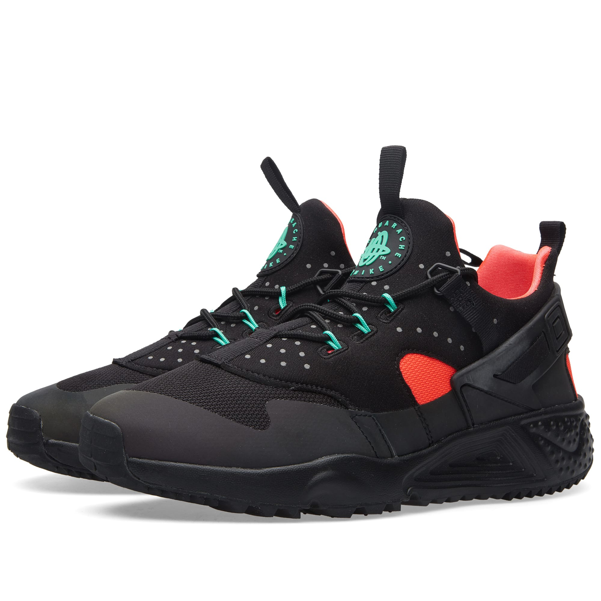 official photos 3fa31 4851d Nike Air Huarache Utility Premium Black   Bright Crimson   END.