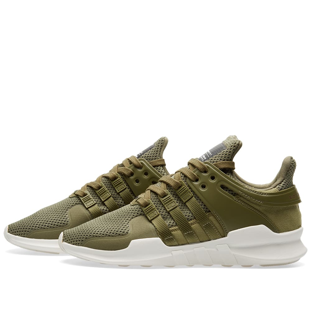quality design be6b7 b144c Adidas EQT Support ADV Olive Cargo & Red   END.