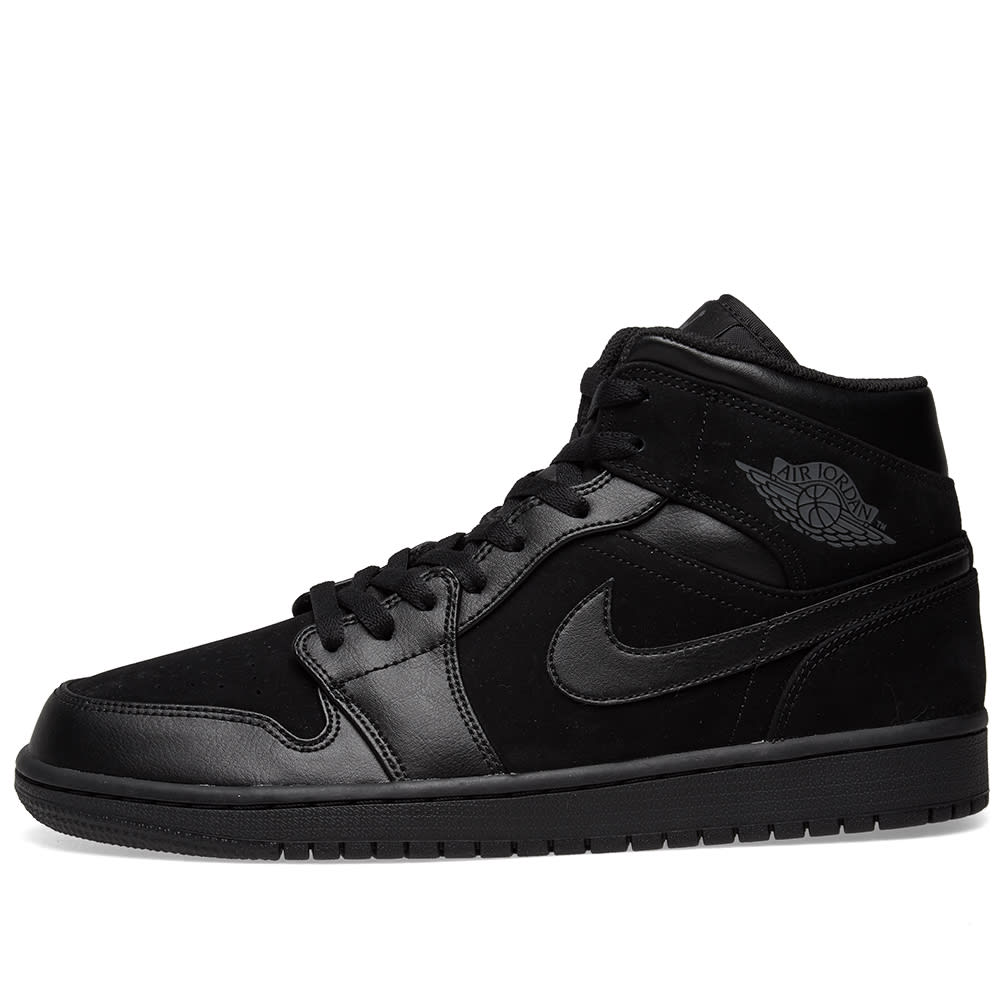pretty nice 513f2 19b52 Air Jordan 1 Mid Black   Dark Grey   END.