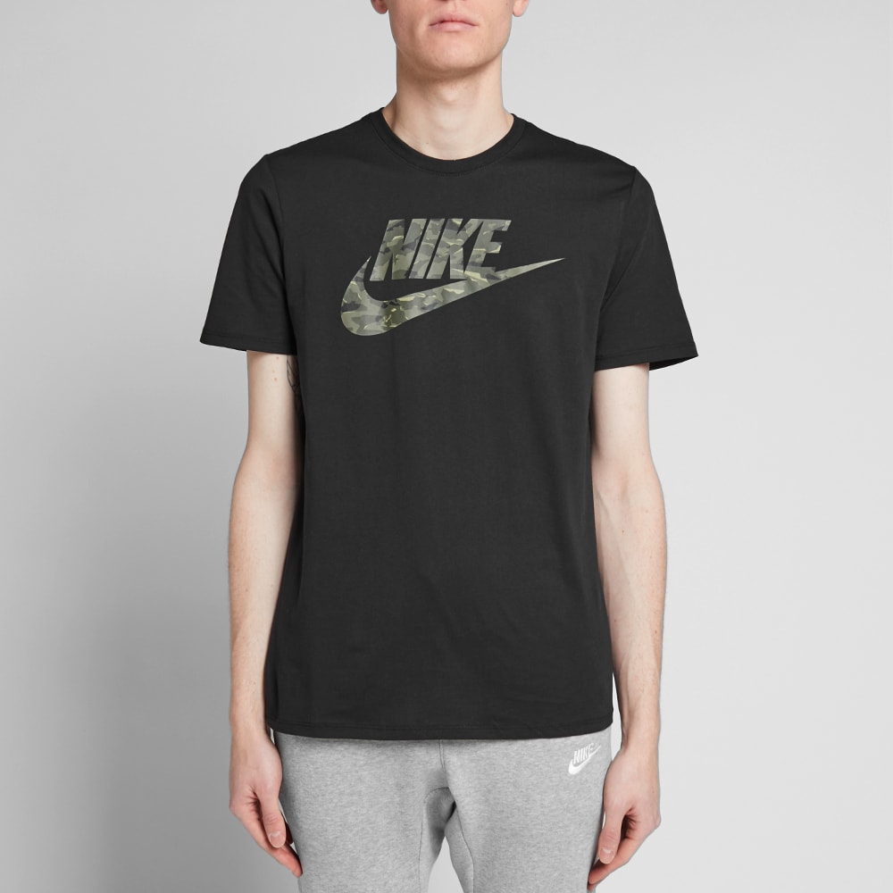 9f4d6714 Nike Camo Pack 2 Tee Black & Neutral Olive | END.