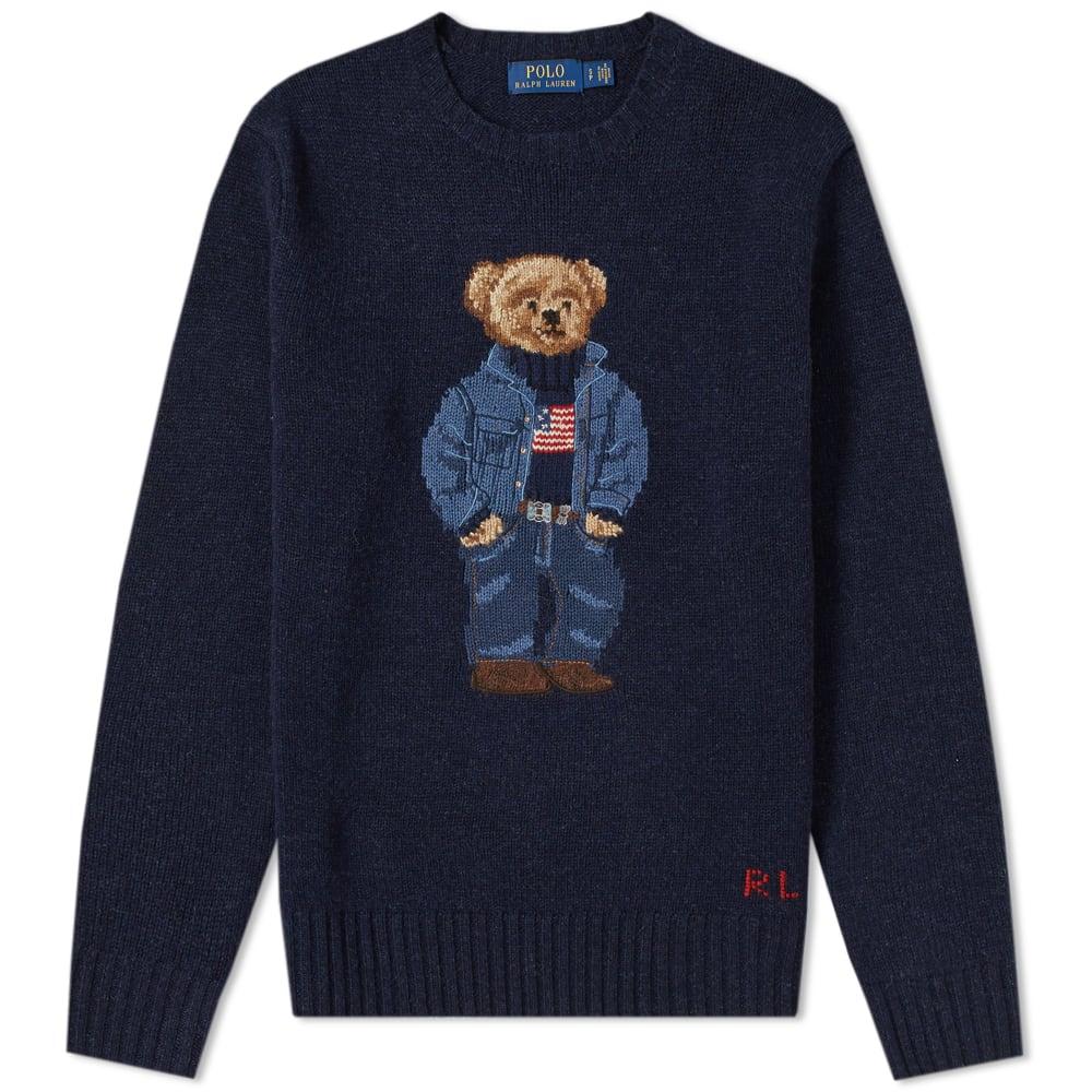 Polo Ralph Bear Casual Intarsia Lauren Knit TFuK1Jlc3